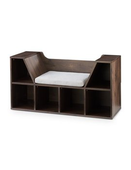 Mainstays Kids Reading Nook And Storage Book Case, Dark Chestnut by Mainstays