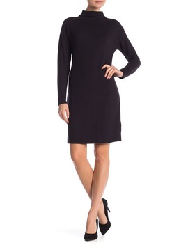 Hacci Mock Neck Long Sleeve Sweater Dress by Joe Fresh