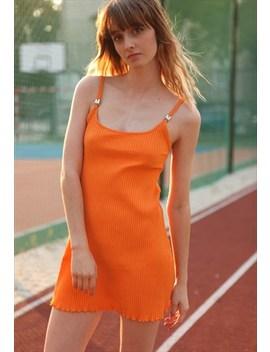 Vintage Y2 K Morgan Spice Girls Mini Dress In Orange by Morgan