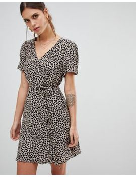 River Island Tea Dress In Leopard by River Island