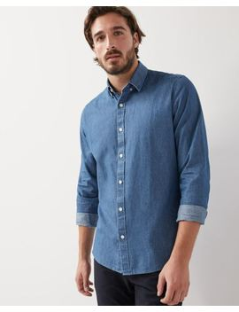 Tailored Fit Denim Shirt by Rw & Co
