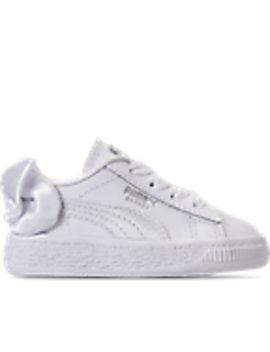 Girls' Toddler Puma Basket Bow Casual Shoes by Puma