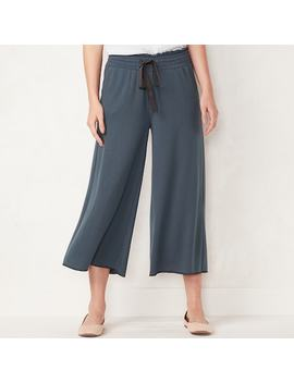 Women's Lc Lauren Conrad Weekend Cropped Wide Leg French Terry Pants by Kohl's