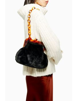Faux Fur Frame Tortoiseshell Shoulder Bag by Topshop