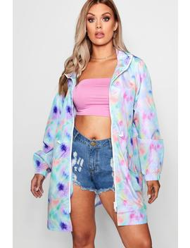Plus Tie Dye Print Festival Mac by Boohoo