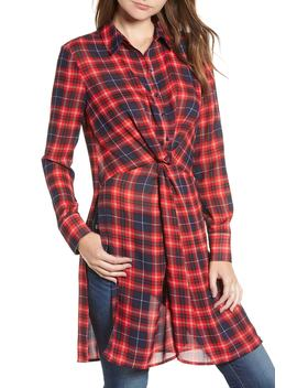 Plaid Twist Tunic by Bp.