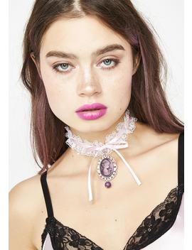 Tea Time Lace Choker by Fad Treasures