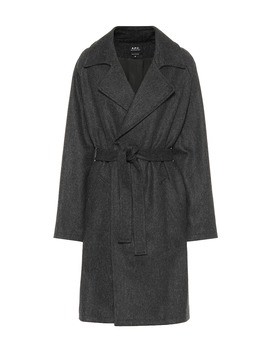 Wool Blend Wrap Coat by A.P.C.
