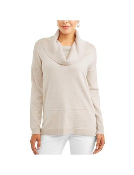 Women's Cowl Neck Tunic Sweater by Heart N Crush