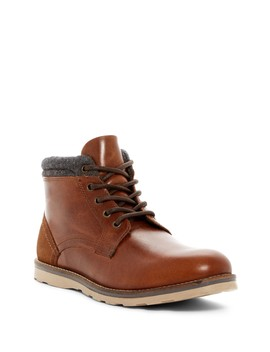 Geoff Leather & Wool Boot by Crevo