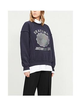 Reflective Skate Print Cotton Jersey Sweatshirt by Maison Margiela