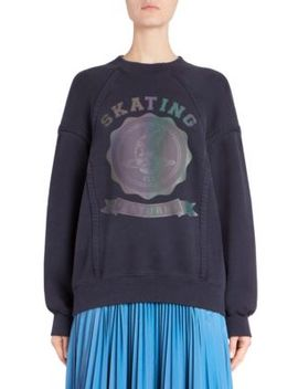 Skating Saturn Crewneck Sweatshirt by Maison Margiela