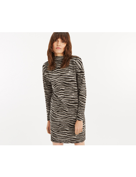 Tiger Funnel Neck Dress by Oasis