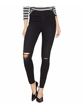 Barbara Ankle High Waist Skinny Raw Hem Jeans In Westbound by Hudson