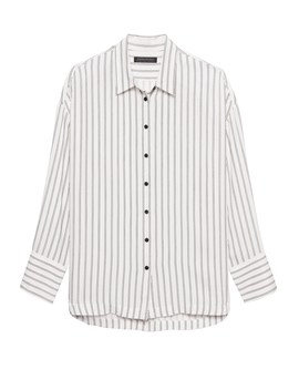 Japan Online Exclusive Oversized Stripe Shirt by Banana Repbulic