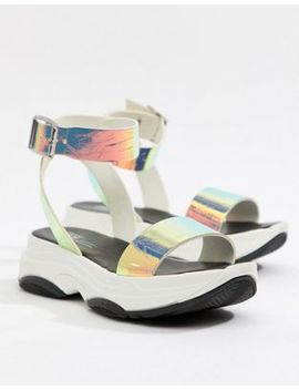 Asos Design Fencer Chunky Sporty Flat Sandals by Asos Design
