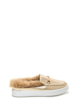 Flat Out Furry Metallic Sneakers by Go Jane