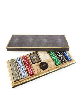 Shagreen Poker Set by Aerin