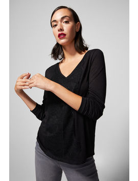 Lace V Neck Shirt by Springfield