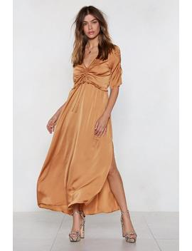 Ruche Over Me Dress by Nasty Gal