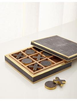 Chocolate Shagreen Tic Tac Toe by Aerin