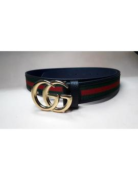 Gucci Belt, Gucci Loop Belt, Gold Plated Buckle, Double G, Loop Belt, Double G Plated by Etsy
