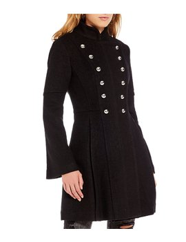 Double Breast Military Coat by Guess