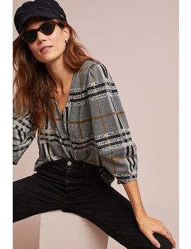 Plaid Structured Top by Current Air