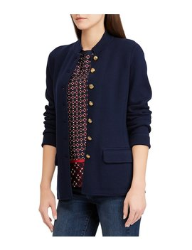Cotton Blend Knit Officer's Jacket by Lauren Ralph Lauren