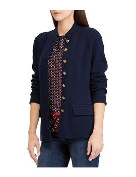 Cotton Blend Knit Officer's Jacket by Lauren Ralph Lauren