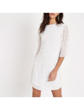 Witte Swingjurk Met Pailletten by River Island