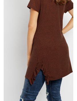 24/7 Ruffle Hem Tunic Tee by Maurices