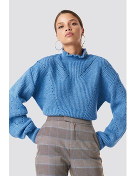 High Neck Pattern Knitted Sweater by Na Kd