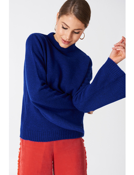 Wide Sleeve Round Neck Sweater by Na Kd