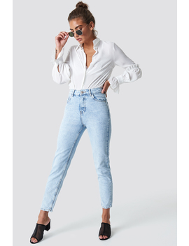 Cropped Mom Jeans by Mango