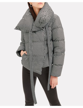 Houndstooth Puffa Jacket by Bacon