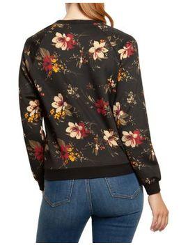 Long Sleeve Printed Sweatshirt by Dex