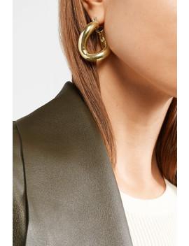 Anima Gold Tone Hoop Earrings by Laura Lombardi