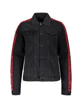 Grey Distressed Denim Jacket by Criminal Damage