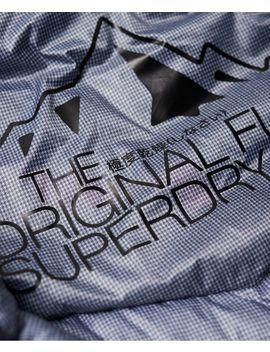 Chevron Faux Fur Super Fuji Jacket by Superdry