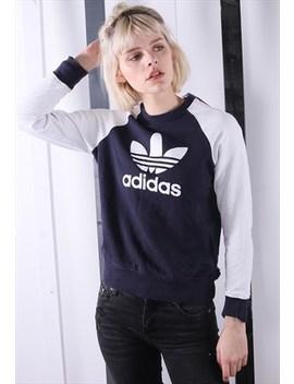 Vintage 90s Adidas Blue Sweater /Sweatshirt Unisex Festival by Adidas