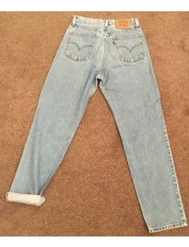 Womens Vintage Light Blue Levi Jeans High Waisted Mom Jeans Size 10 by Ebay Seller