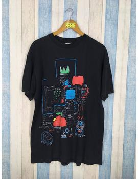 Jean Michel Basquiat T Shirt Unisex Large Black Vintage 80's Graffiti Artwork Jmb Crown Basquiat Pop Art Tee Tshirt Size L by Etsy