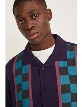 Lazy Oaf Checked Purple Stripe Shirt by Lazy Oaf