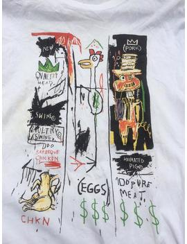 Vintage Jean Michel Basquiat, Quality Meat For The Public,1982/Andy Warhol/Keith Haring/Barbara Kruger Tee Shirt Tshirt Medium Size by Etsy