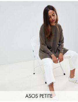 Asos Design Petite  – Fein Gestrickter Oversize Pullover by Asos Design