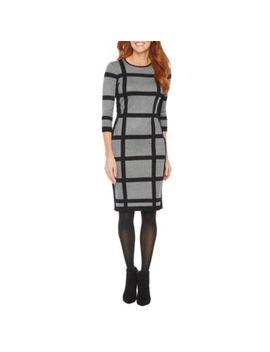 Liz Claiborne 3/4 Sleeve Sweater Dress by Liz Claiborne