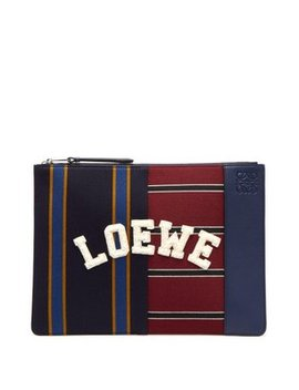 Varsity Medium Leather Pouch by Loewe