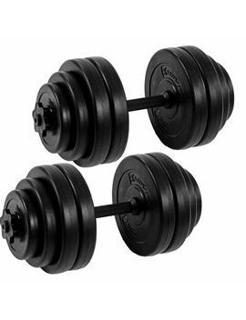 Movit® Kurzhantel 2er Set, Varianten 20kg, 30kg, 40kg, Stangen Gerändelt Mit Sternverschlüssen by Amazon