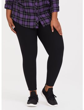 Black Fleece Lined Knit Legging by Torrid